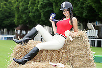 22/7/2010. Model Georgia Salpa is pictured at the RDS for the launch of the 2010 Fáilte Ireland Dublin Horse Show. Picture James Horan/Collins Photos