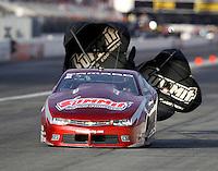 Nov 12, 2016; Pomona, CA, USA; NHRA pro stock driver Greg Anderson during qualifying for the Auto Club Finals at Auto Club Raceway at Pomona. Mandatory Credit: Mark J. Rebilas-USA TODAY Sports