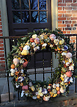 "Christmas Wreath Colonial Williamsburg Virginia,wreath, Colonial Williamsburg Virginia historic district 1699 to 1780 which made colonial Virgnia's Capitol, for most of the 18th century Williamsburg was the center of government education and culture in Colony of Virginia, George Washington, Thomas Jefferson, Patrick Henry, James Monroe, James Madison, George Wythe, Peyton Randolph, and others molded democracy in the Commonwealth of Virginia and the United States, Motto of Colonial Williamsburg is ""The furture may learn from the past,"" Colonial Williamsburg Virginia,Colonial Williamsburg Virginia, American Revolution Virginia Colony, James River, York River, Middle Plantation, Jamestown, Yorktown, 1607, Native American, Powhatan Confederacy, House of Burgesses, William and Mary,"