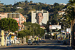 Large building sized advertisement for Will Smith movie in Hollywood
