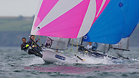 ENGLAND, Falmouth, Restronguet Sailing Club, 8th September 2009, International 14 Prince of Wales Cup Week, GBR1529 Andy Fitzgerald and Harvey Hillary
