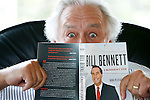 Bob Plecas holds his new book titled &quot;Bill Bennett: A Mandarin's View&quot; which is about the administration of the former premier Bill Bennett, at his home in Victoria, British Columbia. Plecas is a longtime bureaucrat who worked for six premiers in 10 ministries. Photo assignment for the Globe and Mail national newspaper in Canada.