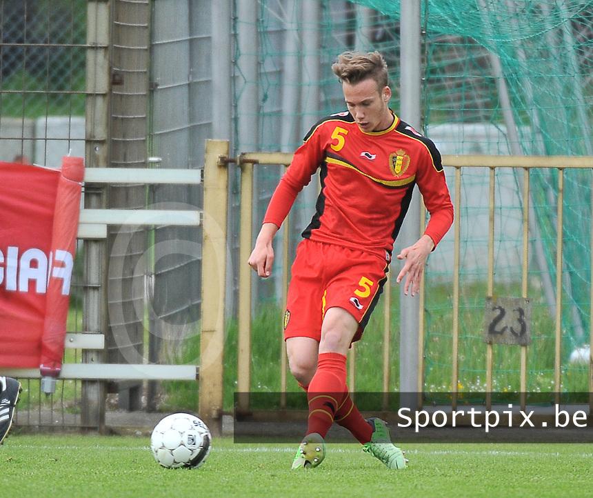 Belgium U19 - England U19 : Alexander Corryn.foto DAVID CATRY / Nikonpro.be