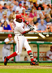13 June 2006: Alfonso Soriano, outfielder for the Washington Nationals, at bat against the Colorado Rockies at RFK Stadium, in Washington, DC. The Rockies defeated the Nationals 9-2 in the second game of the four-game series...Mandatory Photo Credit: Ed Wolfstein Photo..
