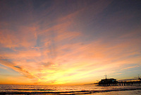The sunset in Santa Monica on Thursaday, January 13, 2011.