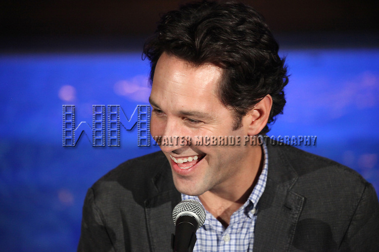 Paul Rudd attends Broadway's 'Grace' cast press conference & photocall at the Grace Hotel on August 21, 2012 in New York City.