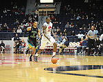 Ole Miss' Murphy Holloway (31) vs. Coastal Carolina's Warren Gillis (0) at the C.M. &quot;Tad&quot; Smith Coliseum in Oxford, Miss. on Tuesday, November 13, 2012. (AP Photo/Oxford Eagle, Bruce Newman)
