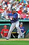 8 March 2012: Boston Red Sox outfielder Darnell McDonald in action during a Spring Training game against the St. Louis Cardinals at Roger Dean Stadium in Jupiter, Florida. The Cardinals defeated the Red Sox 9-3 in Grapefruit League action. Mandatory Credit: Ed Wolfstein Photo