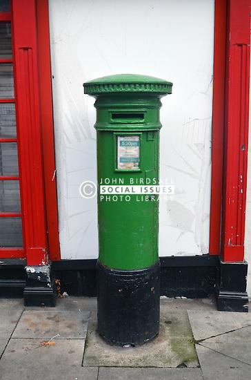 Green post box Dublin Ireland