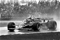 MONTREAL, CANADA - SEPTEMBER 27: Nigel Mansell drives the Lotus 87 R5/Ford Cosworth DFV during the 1981 Canadian Grand Prix FIA Formula One World Championship race at the Circuit Île Notre-Dame temporary circuit in Montreal, Canada, on September 27, 1981.