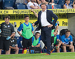 FC Luzern v St Johnstone...17.07.14  Europa League 2nd Round Qualifier<br /> Tommy Wright shows his delight as the final whistle goes<br /> Picture by Graeme Hart.<br /> Copyright Perthshire Picture Agency<br /> Tel: 01738 623350  Mobile: 07990 594431