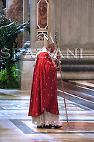 Commemorate cardinals year 2007 Benedict XVI Altar  the Chair Bernini,St Peter's Basilica.Nov.5,2007