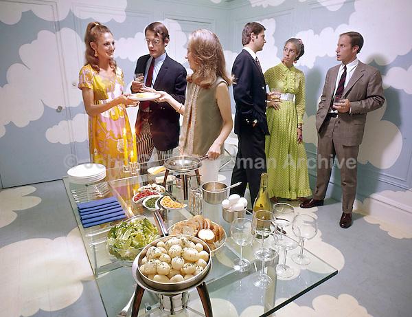 Dinner Party, New York, 1970. Photo by John G. Zimmerman