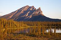 Mount Sukakpak of the Brooks Range mountains in Alaska's Arctic.