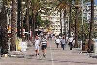 Spain, Marbella, paseo maritimo, promenade, November, 2015, 201511131815. It is possible to walk along the shore from Marbella to Puerta Banus, and even on to San Pedro de Alcantara with the exception of a few easily negotiated short stretches. <br /> <br /> Copyright Image from Victor Patterson, 54 Dorchester Park, Belfast, UK, BT9 6RJ<br /> <br /> t1: +44 28 9066 1296 (from Rep of Ireland 048 90661296)<br /> t2: +44 28 9002 2446 (from Rep of Ireland 048 90022446)<br /> m: +44 7802 353836<br /> <br /> e1: victorpatterson@me.com<br /> e2: victorpatterson@gmail.com<br /> <br /> www.victorpatterson.com<br /> <br /> IMPORTANT: Please see my Terms and Conditions of Use at www.victorpatterson.com