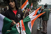 Vendors sell Indian flags outside the Eden gardens stadium in Kolkata, West Bengal, India.