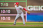 23 May 2015: Philadelphia Phillies infielder Andres Blanco gets the final out of the game against the Washington Nationals at Nationals Park in Washington, DC. The Phillies defeated the Nationals 8-1 in the second game of their 3-game weekend series. Mandatory Credit: Ed Wolfstein Photo *** RAW (NEF) Image File Available ***