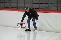 SPEED SKATING: INZELL: 08-12-2015, Max Aicher Arena, werelduurrecord Carien Kleibeuker, Jillert Anema (trainer/coach), ©foto Martin de Jong