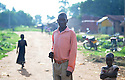 UGANDA BRAILLE BIBLE CASE STUDIES. MORRIS OKELLO, 25. LIRA, UGANDA. PHOTO BY CLARE KENDALL. 25/9/13