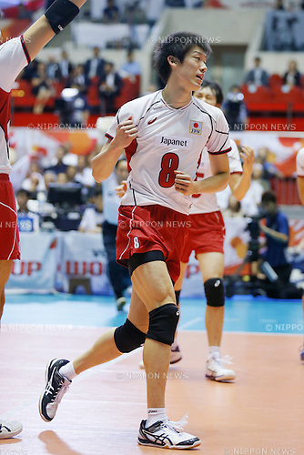 Yuki Ishikawa (JPN), SEPTEMBER 21, 2015 - Volleyball : FIVB Men's World Cup 2015 A-site 3rd Round between Japan 0-3 Argentina 1st Yoyogi Gymnasium in Tokyo, Japan. (Photo by Yusuke Nakanishi/AFLO SPORT)