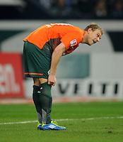 FUSSBALL   1. BUNDESLIGA   SAISON 2011/2012    17. SPIELTAG FC Schalke 04 - SV Werder Bremen                            17.12.2011 Andreas Wolf (SV Werder Bremen) enttaeuscht