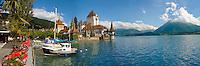 Oberhoffen Castle Lake Thun Bernese Oberland Switzerland