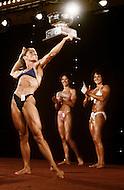 Atlantic City, April 24 1981. Lynn Conkwright at  the World Body Building Championships.