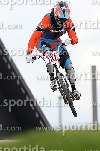 Olympics - London 2012 Olympic Games - BMX Track  - 8/8/12.Cycling - Bmx - Men's Seeding Run - van der BIEZEN Raymon (NED).© pixathlon