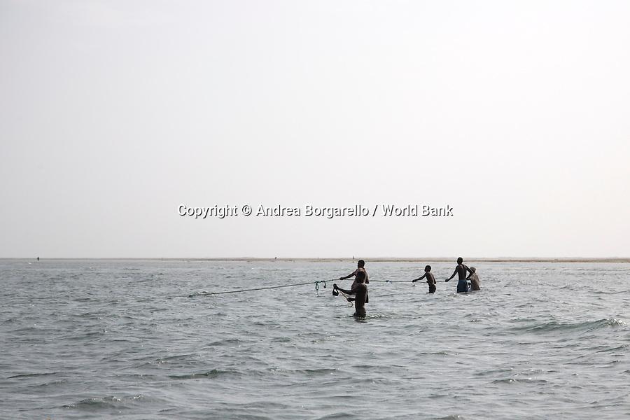 Quirimbas National Park, Mozambique.<br /> Marine area, Ibo Island.<br /> Local fishing.