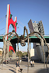 Spider Sculpture by Bourgeois with Puente de la Salve Bridge by Buren and the Guggenheim Museum; Bilbao; Basque Country; Spain