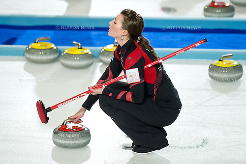 Emma Miskew (CAN), MARCH 21, 2013 - Curling : World Women's Curling Championship 2013 Round Robin match between Canada 8-4 Japan at Volvo Sport Center in Riga, Latvia, (Photo by Enrico Calderoni/AFLO SPORT)