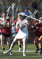 Boston College attacker Moira Barry (12) takes a shot.