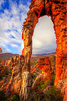 Arch framing Cederberg Mountains  Cederberg Wilderness,  South Africa   UNESCO World Heritage Site   Northern Cape Area