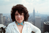New York City, New York - June 13, 1977. This portrait was taken of Yvette Horner while standing above Manhattan, on the roof of the Rockerfeller Center. Yvette Horner (born September 22nd, 1922) is a renown French accordionist, whose career has spanned over 70 years, has given thousands of concerts around the world and sold over 30 million records.