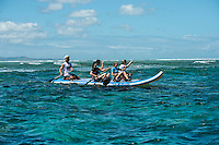 Namotu Island Resort, Fiji. Tuesday March 31 2015) - The surf was in the 4' range this morning with  clear skies and moderate ESE Trade winds. The  guests had sessions at Namotu Lefts, Swimming Pools and Cloudbreak. Other activities included snorkelling, SUPsquatch and fishing Photo: joliphotos.com