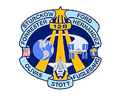 Houston, TX - (FILE) -- Photo from April, 2009 of the STS-128 patch which symbolizes the 17A mission and represents the hardware, people and partner nations that contribute to the flight. The Space Shuttle Discovery is shown in the orbit configuration with the Multi Purpose Logistics Module (MPLM) Leonardo in the payload bay. Earth and the International Space Station wrap around the Astronaut Office symbol reminding us of the continuous human presence in space. The names of the STS-128 crew members border the patch in an unfurled manner. Included in the names is the expedition crew member who will launch on STS-128 and remain on board ISS, replacing another Expedition crew member who will return home with STS-128. The banner also completes the Astronaut Office symbol and contains the U.S. and Swedish flags representing the countries of the STS-128 crew.  It is scheduled for launch on August 25, 2009.  The NASA insignia design for Space Shuttle flights is reserved for use by the astronauts and for other official use as the NASA Administrator may authorize. Public availability has been approved only in the form of illustrations by the various news media. When and if there is any change in this policy, which we do not anticipate, it will be publicly announced..Credit: NASA via CNP