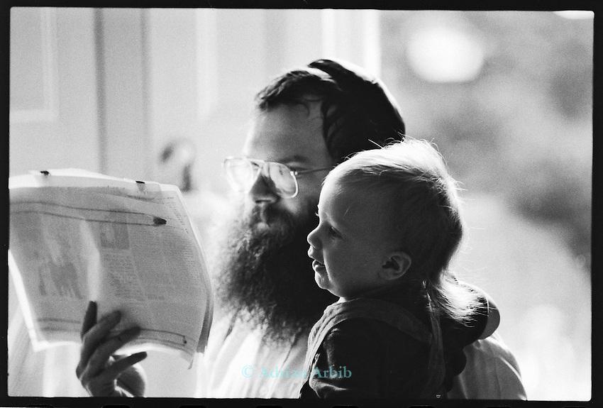 Rabbi Herschel Gluck at home, Stamford Hill  North London