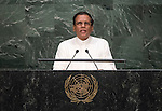 Address by His Excellency Maithripala Sirisena, President of the Democratic Socialist Republic of Sri Lanka