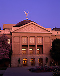 Sunrise with the state Capitol Building downtown Phoenix Arizona State USA