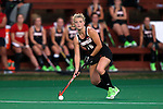 18 September 2015: Louisville's Abby Grimes. The University of North Carolina Tar Heels hosted the University of Louisville Cardinals at Francis E. Henry Stadium in Chapel Hill, North Carolina in a 2015 NCAA Division I Field Hockey match. UNC won the game 5-0.