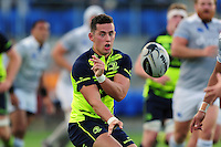 Noel Reid of Leinster Rugby passes the ball. Pre-season friendly match, between Leinster Rugby and Bath Rugby on August 26, 2016 at Donnybrook Stadium in Dublin, Republic of Ireland. Photo by: Patrick Khachfe / Onside Images