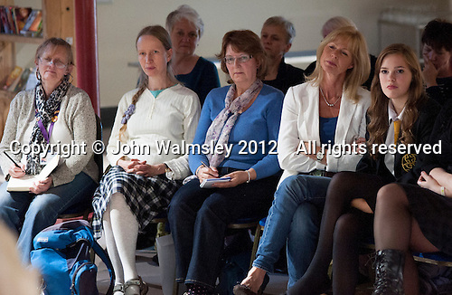 Members of the audience at an evening celebrating the work of Leila Berg and the official opening of her archive at Seven Stories in Newcastle, 19th September 2012.