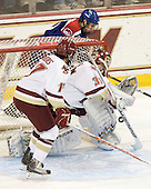 Brian Gibbons (BC - 17), Parker Milner (BC - 35), Matt Ferreira (Lowell - 17) - The Boston College Eagles defeated the visiting University of Massachusetts-Lowell River Hawks 5-3 (EN) on Saturday, January 22, 2011, at Conte Forum in Chestnut Hill, Massachusetts.