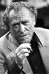 Charles Bukowski during Apostrophes TV show, september 1978. Photo by Ulf Andersen.