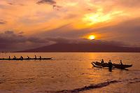 Outrigger Canoe Paddling, Kaanapali, Maui, Hawaii
