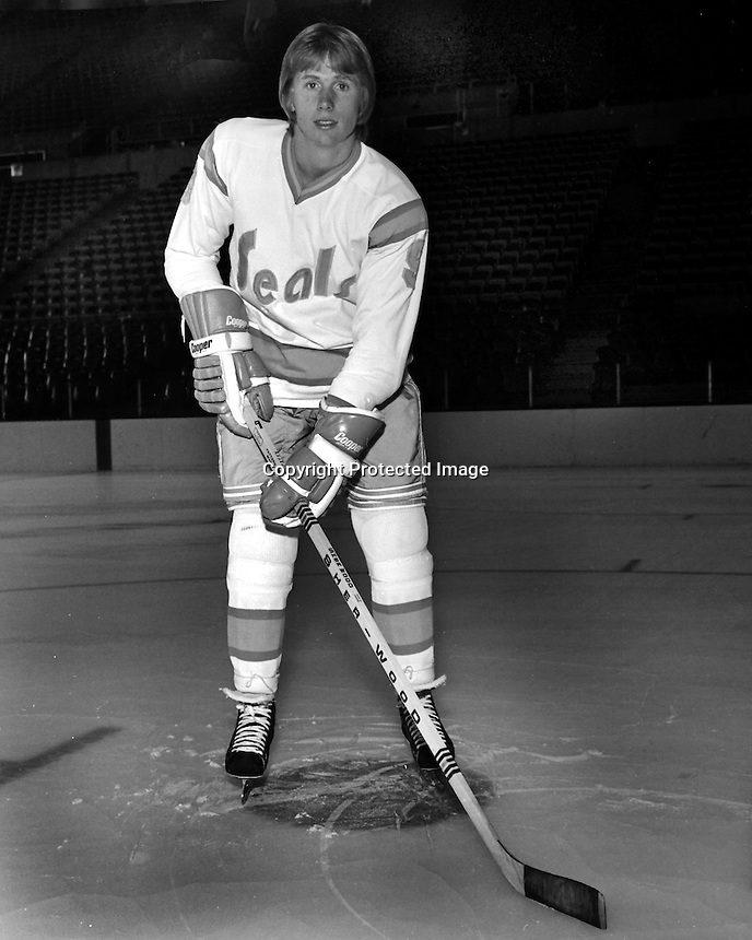 California Golden Seals Larry Patey, (1974 photo/Ron Riesterer)