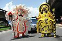 Mardi Gras Indians at Uncle Lionel Batiste jazz funeral, 2012