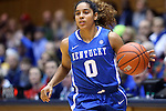 21 December 2014: Kentucky's Jennifer O'Neill. The Duke University Blue Devils hosted the University of Kentucky Wildcats at Cameron Indoor Stadium in Durham, North Carolina in a 2014-15 NCAA Division I Women's Basketball game. Duke won the game 89-68.