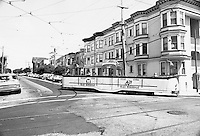 Blackpool Boat Car 228 Turning Corner of 17th and Noe Sts. | Spetember 3, 1986