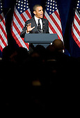 United States President Barack Obama speaks to supporters during a fundraising event held at the Capital Hilton Hotel in downtown Washington, D.C. on January 9, 2012. .Credit: Kristoffer Tripplaar  / Pool via CNP